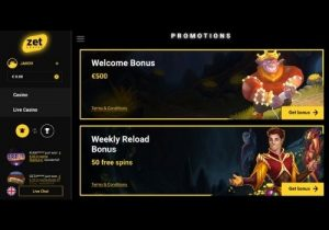 Zet Casino Bonus Options